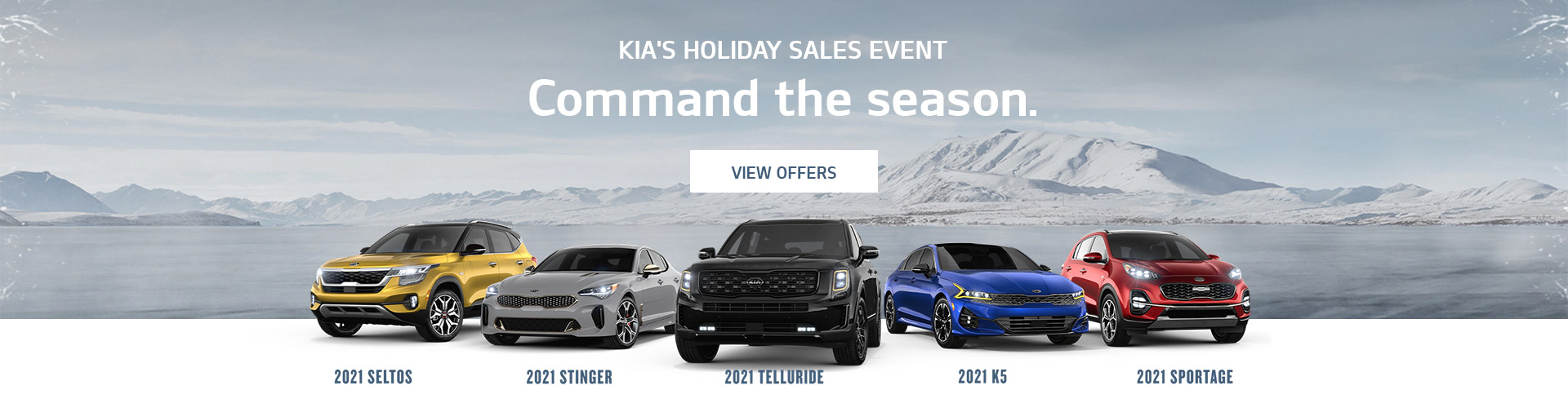 Kia's Holiday Sales Event - Command The Season.