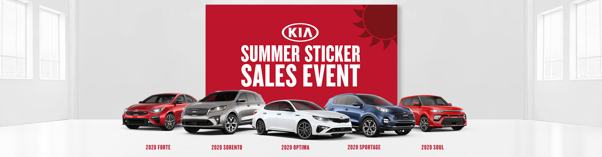 Summer Sticker Sales Event at Anderson Kia